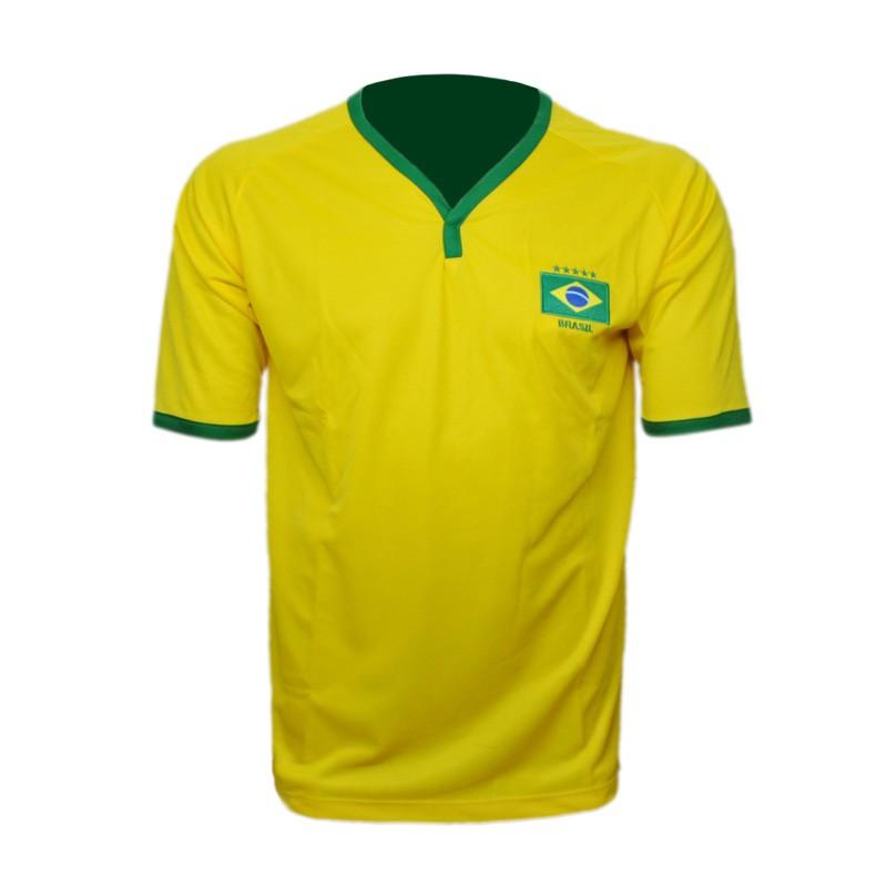 Camisa Brasil Bordada Adulto Lince