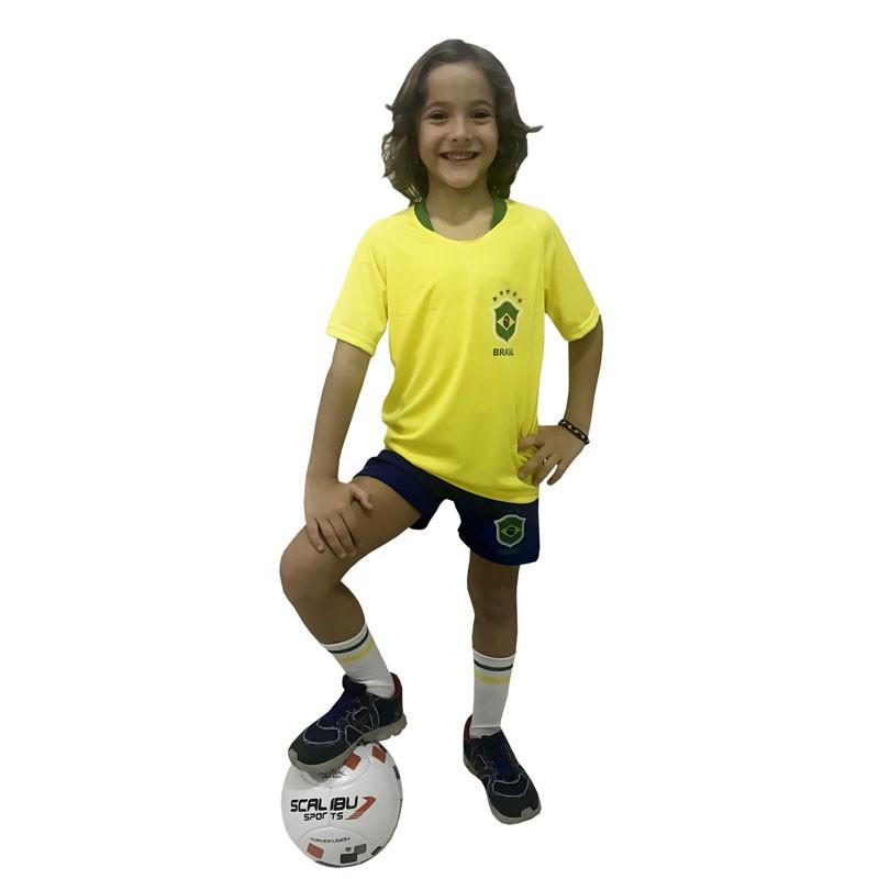 Camisa Brasil Infantil Alusiva