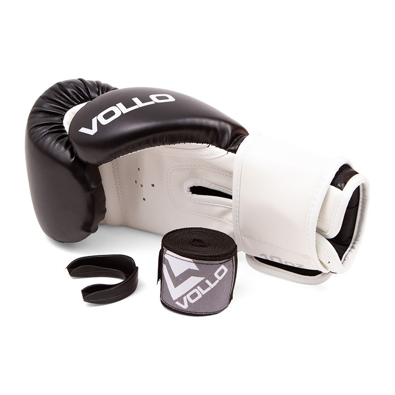Kit Luva Boxe Vollo Bandagem e Prot. Bucal