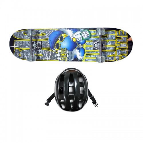 Kit Skate Infantil c/ Capacete