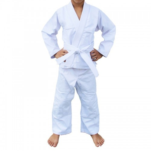 Kimono Judô Kime Infantil Branco Brim