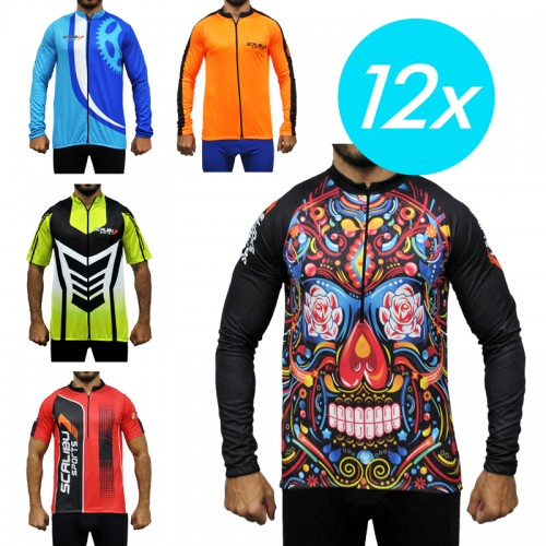 Kit c/12 Camisas Bike Scalibu Drytech