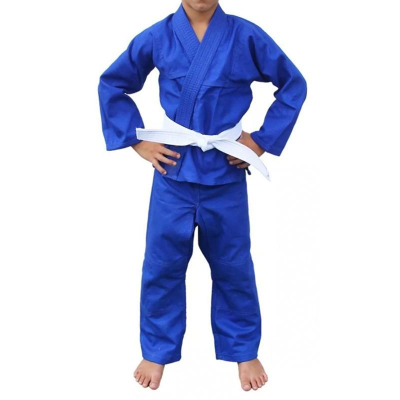Kimono Judô Kime Infantil Azul Brim