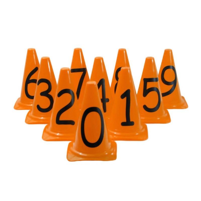 Kit Cones Pequenos 24cm c/ 10 Números