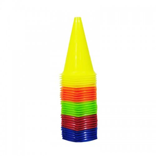 Kit c/ 30 Cones Pequenos 24cm Flexível