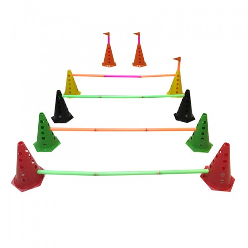 Kit Barreiras c/ 10 Cones e 5 Bastões