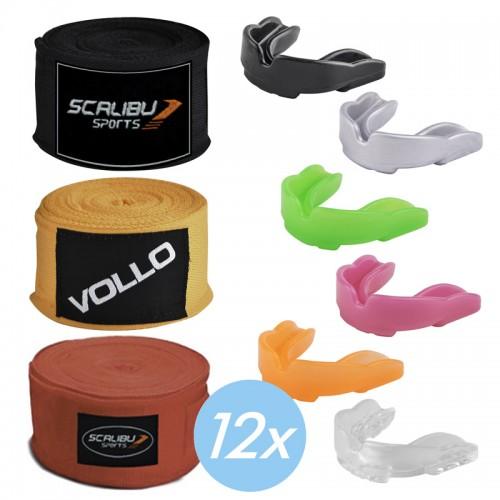 Kit c/12 Bandagens e 12 Protetores Bucais Promocionais