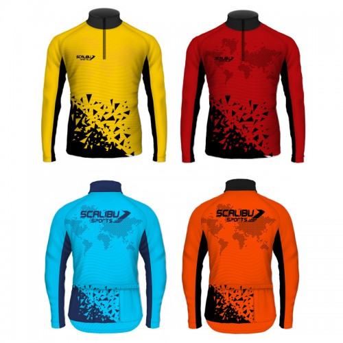 Kit c/10 Camisas Bike Trilha Scalibu Manga Longa Drytech