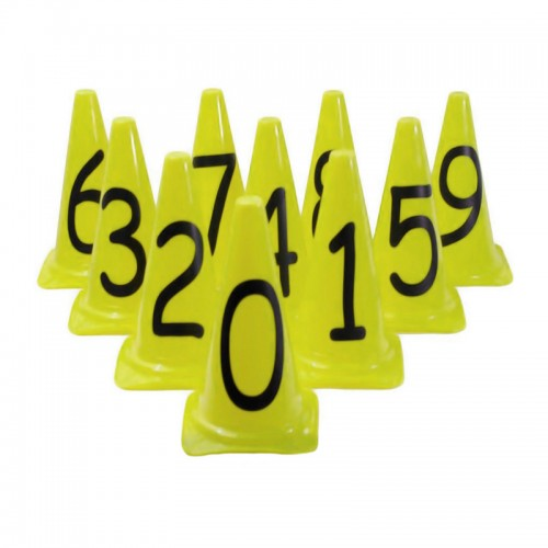 Kit Cones Médios 50cm c/ 10 Números